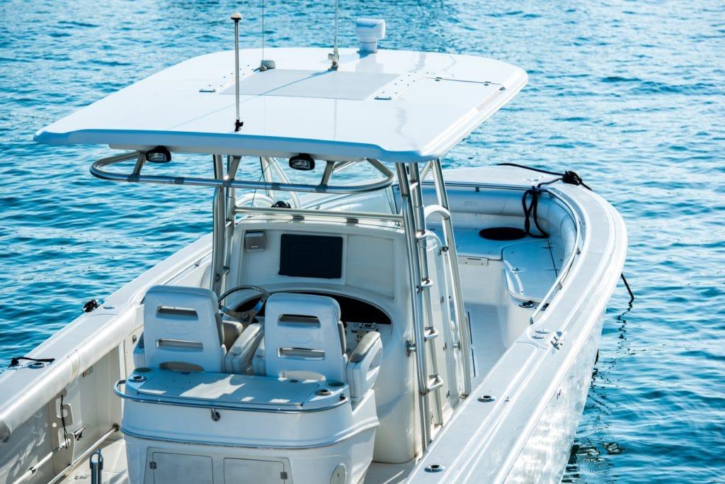 Recreational Fishing Boat. Boating Theme.
