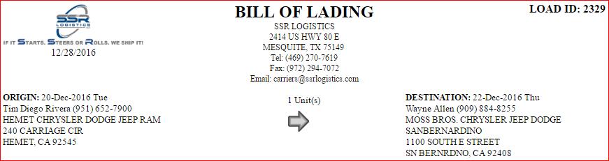 shipping bol